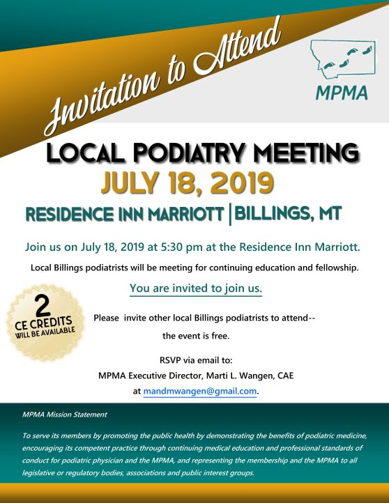 Local Podiatry Meeting - 07.18.2019